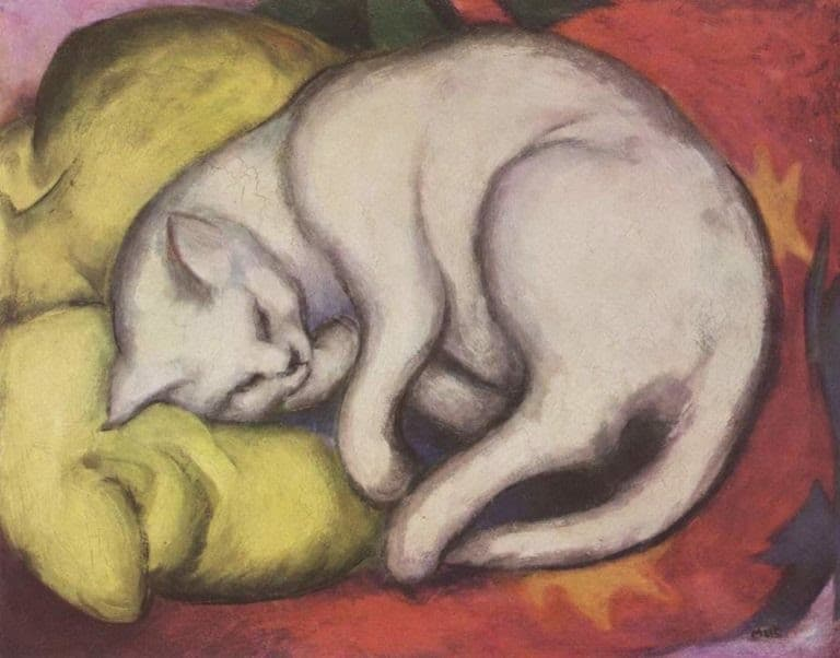 Franz Marc - The white cat (1912)